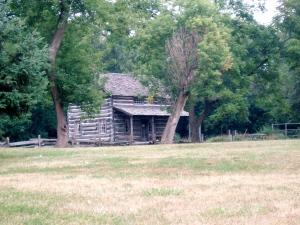 cabin from afar