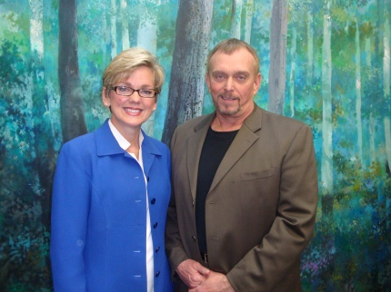 Michigan Governor Jennifer Granholm and CDI's Anthony Hornus