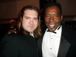 DJ Perry with Ernie Hudson